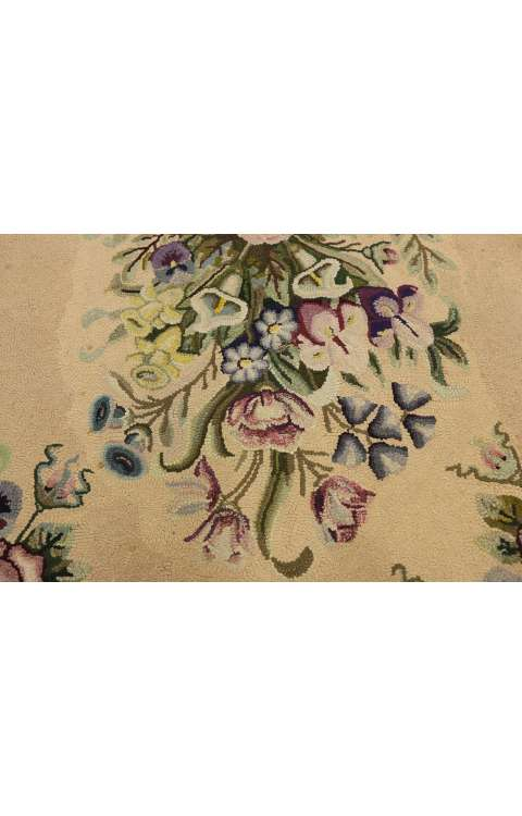 3 x 6 Antique Hook Rug 74344