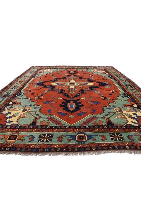 9 x 11 Vintage Afghan Rug 77274