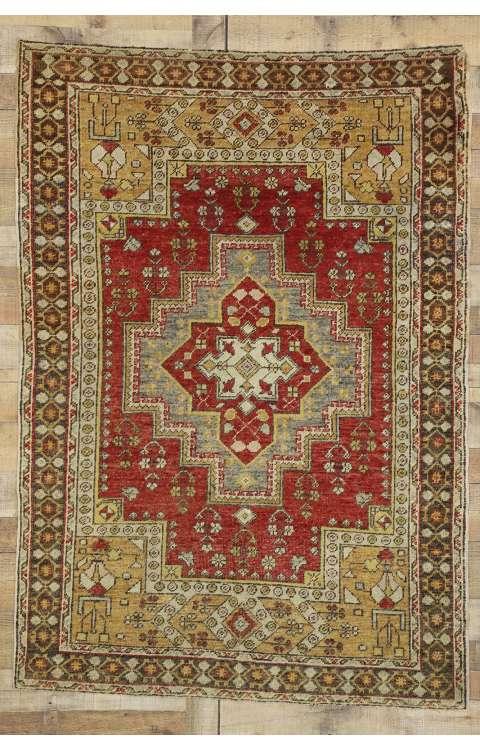 4 x 6 Vintage Oushak Rug 77281