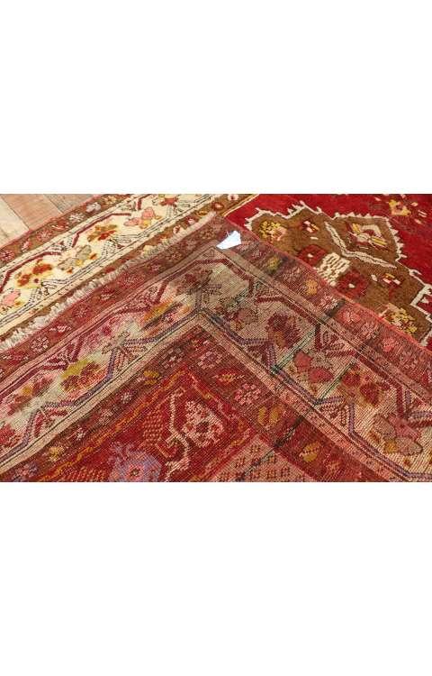 4 x 10 Antique Oushak Rug 77284