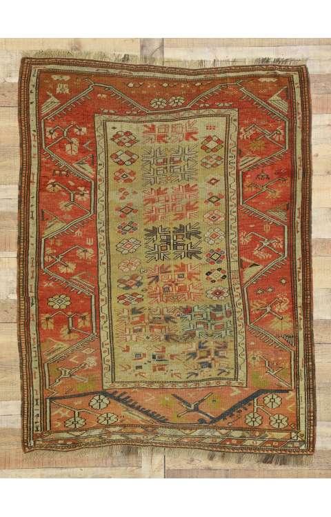 4 x 5 Antique Oushak Rug 77324
