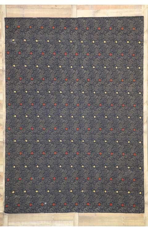 8 x 11 Vintage Embroidered Rug 77335