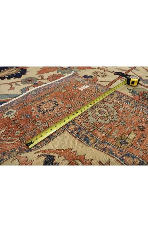 11 x 15 Antique Serapi Rug 76927