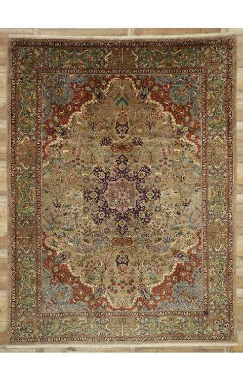 10 x 13 Vintage Tabriz Rug 77351