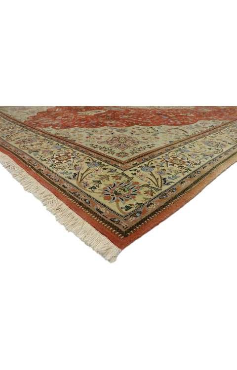 11 x 15 Vintage Tabriz Rug 77353