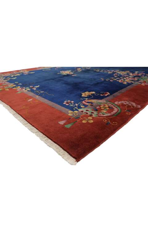 9 x 11 Antique Art Deco Rug 77354