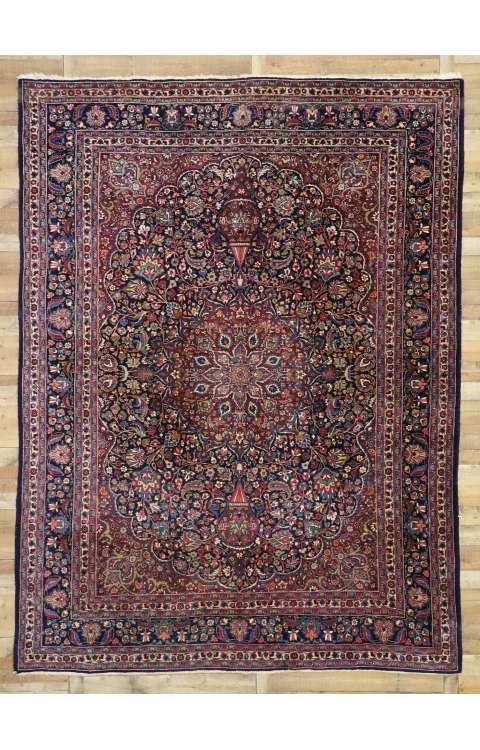 10 x 13 Vintage Mashad Rug 77355