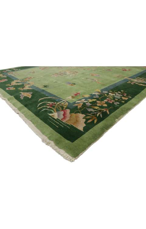 8 x 9 Antique Art Deco Rug 773678 x 9 Antique Art Deco Rug 77367