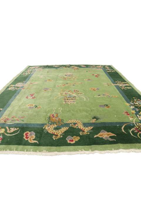 8 x 9 Antique Art Deco Rug 77367