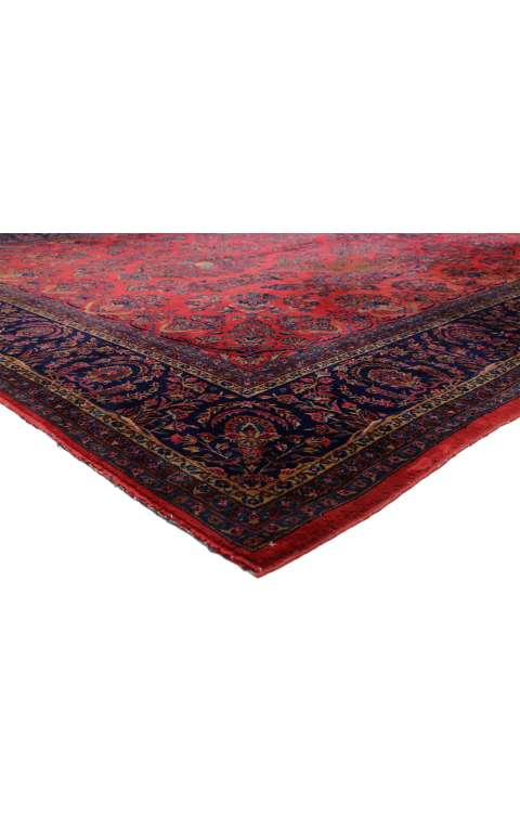 11 x 17 Antique Kashan Rug 77370