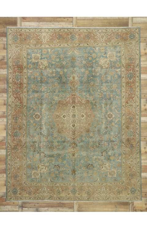 10 x 13 Vintage Tabriz Rug 52664