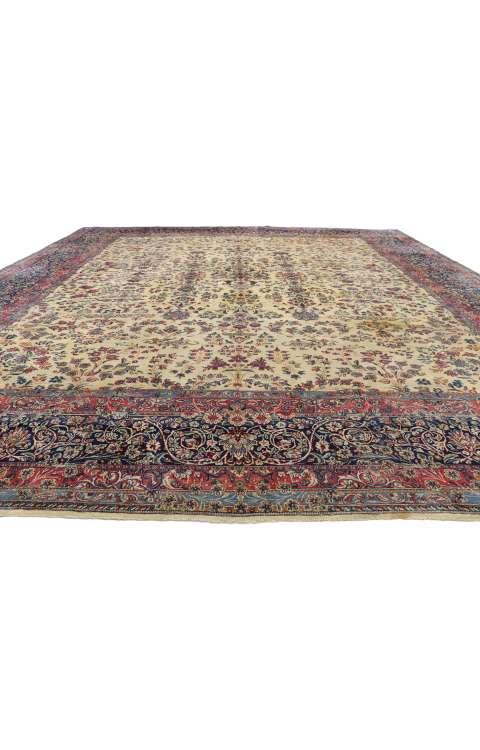 13 x 15 Antique Kerman Rug 77377