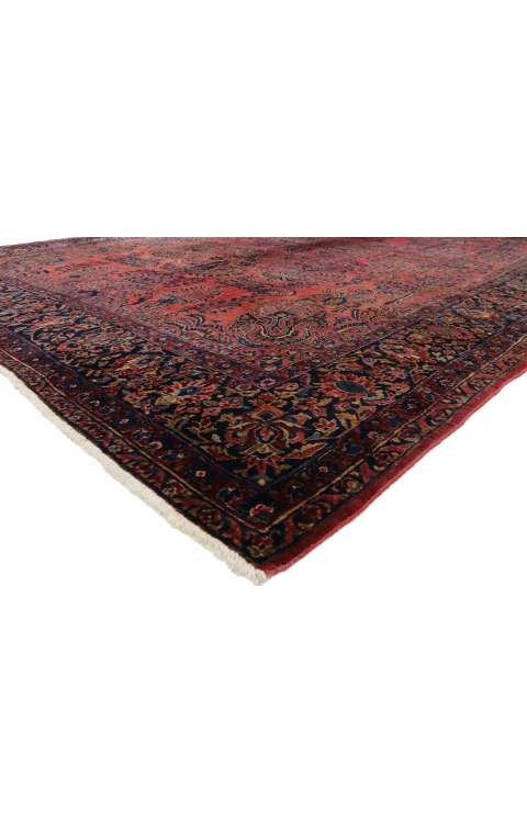 11 x 14 Antique Sarouk Rug 7738711 x 14 Antique Sarouk Rug 77387