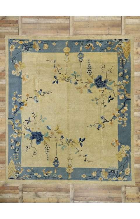 10 x 12 Antique Distressed Peking Rug 52764