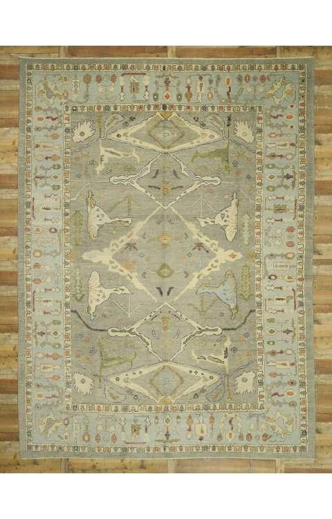 11 x 15 Contemporary Turkish Oushak Rug 52799