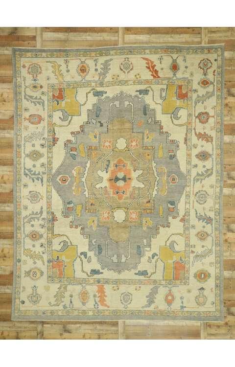 10 x 13 Turkish Oushak Rug 52800