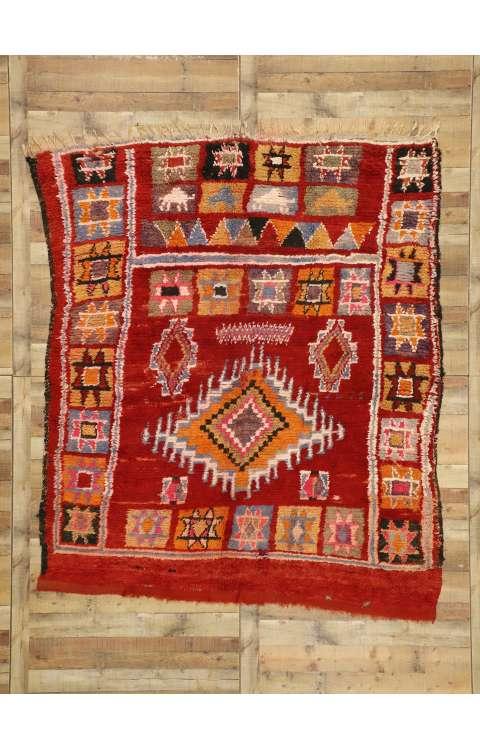 7 x 8 Vintage Moroccan Rug 20920