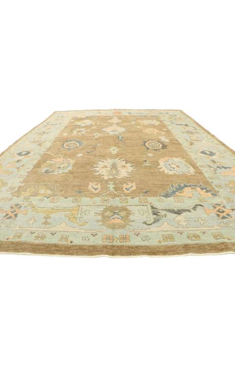 9 x 12 Contemporary Turkish Oushak Rug 52823
