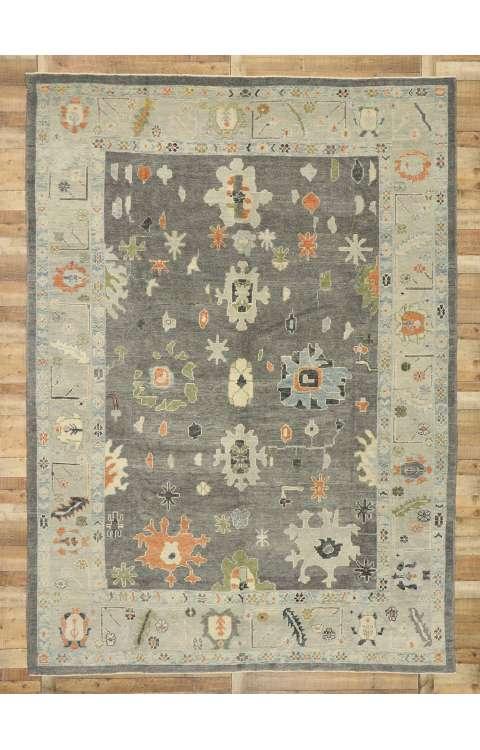 9 x 12 Contemporary Turkish Oushak Rug 52829