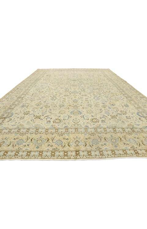9 x 13 Antique Persian Kashan Rug 52843