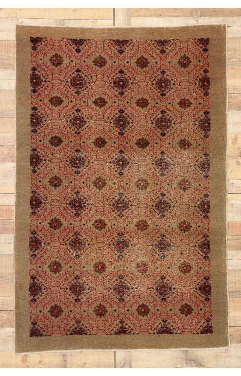 4 x 6 Vintage Turkish Sivas Rug 52853