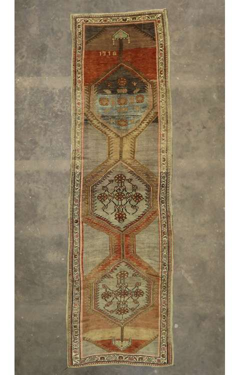 5 x 17 Vintage Oushak Rug 52856