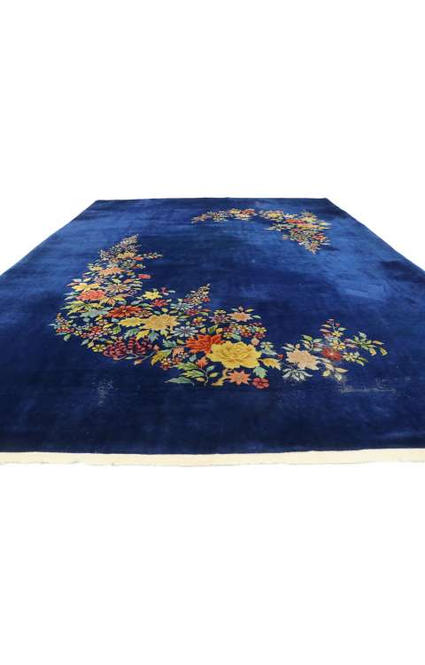 9 x 12 Antique Art Deco Rug 77406
