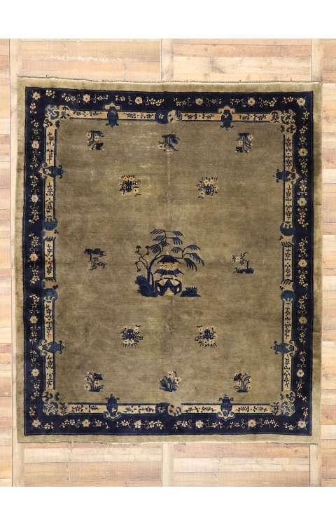 8 x 10 Antique Chinese Peking Rug 77408