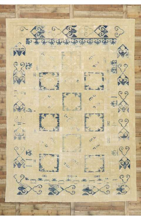 10 x 14 Vintage Oushak Rug 51592