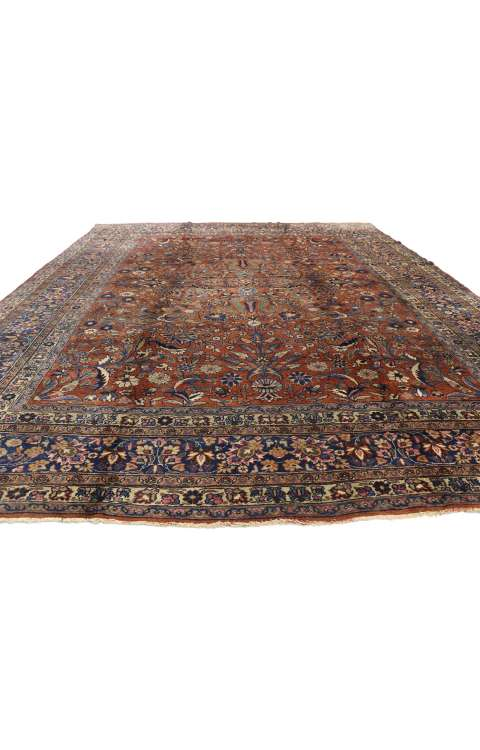 9 x 12 Antique Persian Mashhad Rug 71212