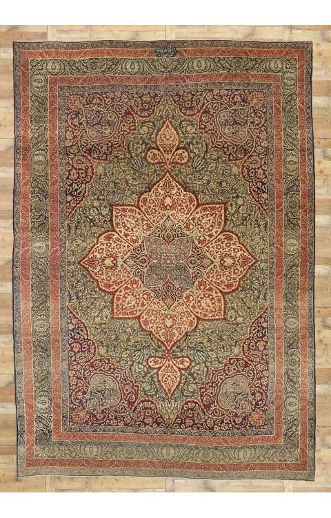 10 x 15 Antique Persian Kermanshah Rug 73364