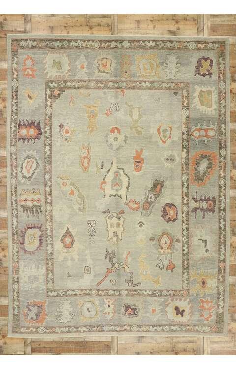 10 x 14 Contemporary Turkish Oushak Rug 52858