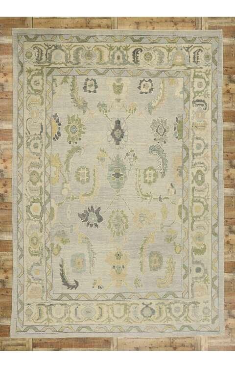 10 x 15 Contemporary Turkish Oushak Rug 52869