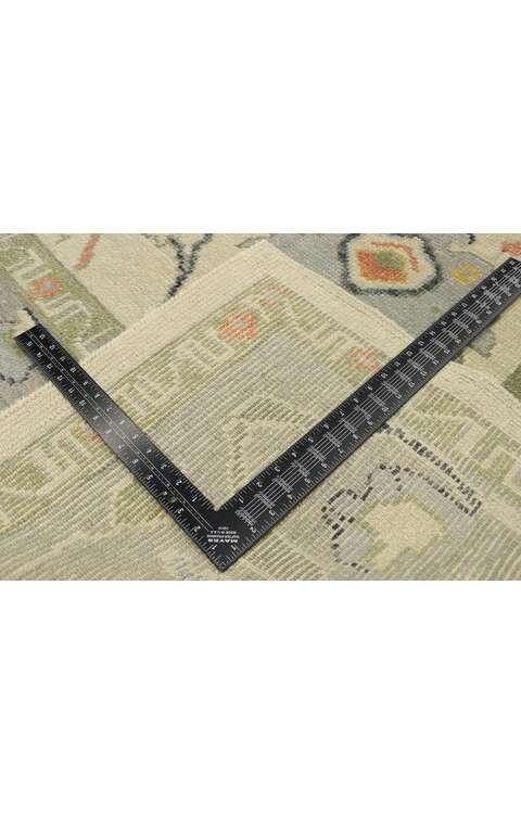 10 x 15 Contemporary Turkish Oushak Rug 52884