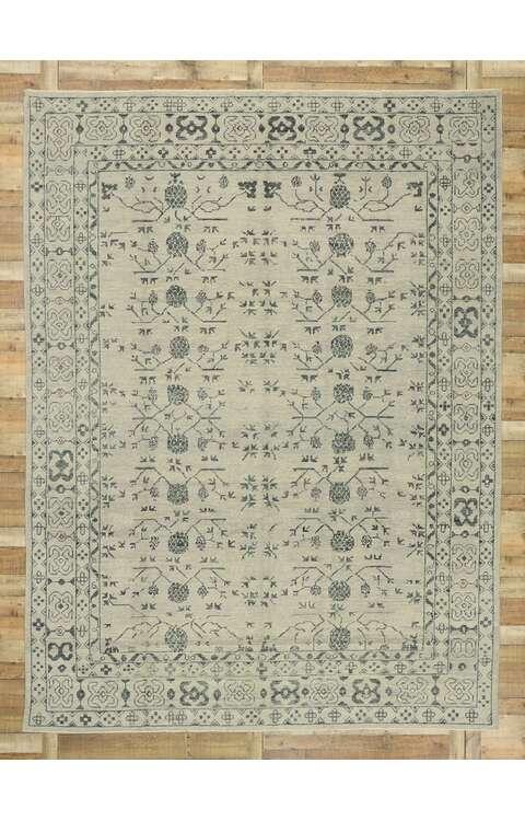 9 x 13 Contemporary Turkish Oushak Rug 52914