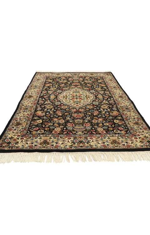 4 x 6 Vintage Pakistani Floral Rug 76854