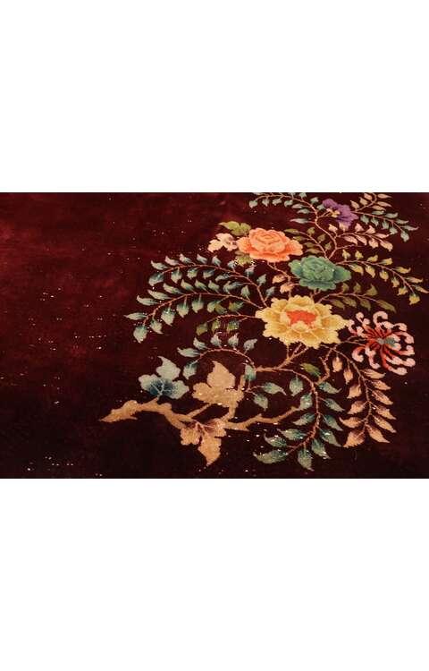 9 x 12 Vintage Chinese Art Deco Rug 77423