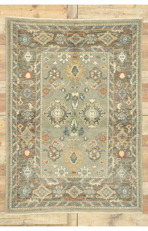 4 x 6 Contemporary Turkish Oushak Rug 52886