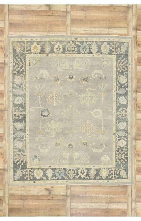 8 x 10 Contemporary Turkish Oushak Rug 52942