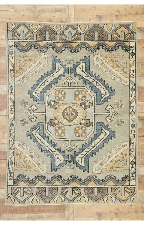 5 x 7 Turkish Oushak Rug 52949
