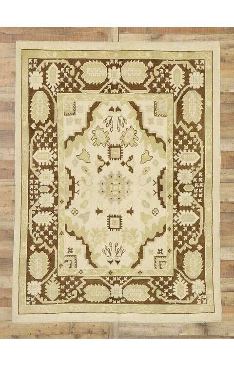 6 x 8 Contemporary Turkish Oushak Rug 52954