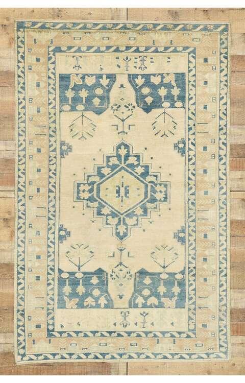 4 x 7 Contemporary Turkish Oushak Rug 52956