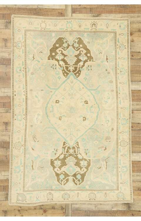 6 x 9 Contemporary Turkish Oushak Rug 52965