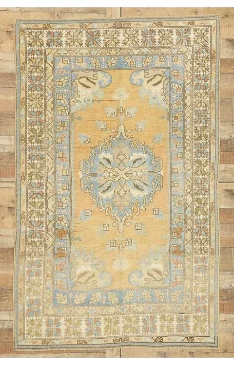 5 x 7 Vintage Turkish Oushak Rug 529665 x 7 Vintage Turkish Oushak Rug 52966