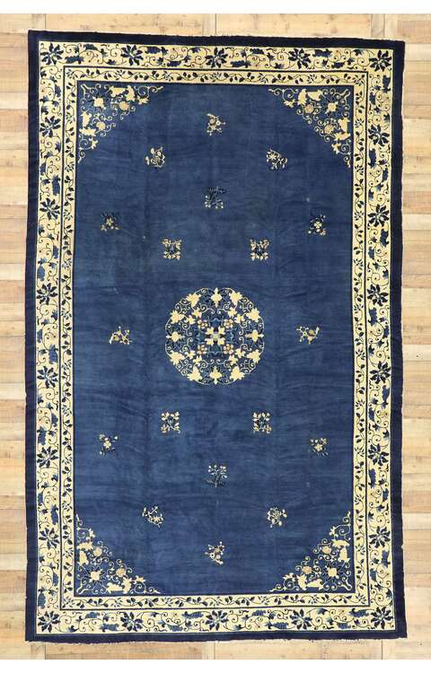 9 x 14 Antique Chinese Peking Rug 77442