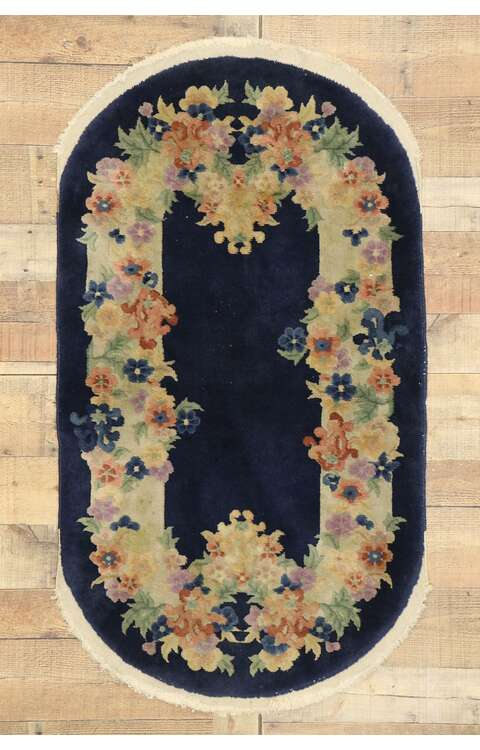 3 x 4 Antique Chinese Art Deco Rug 77463