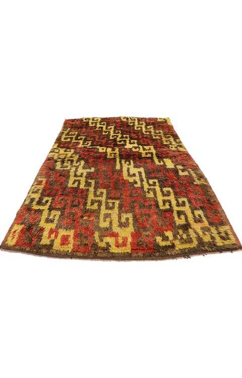 4 x 6 Vintage Turkish Tulu Rug 51556