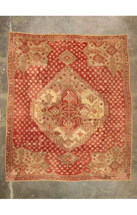 14 x 16 Antique Turkish Oushak Rug 77477