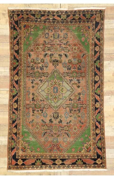 4 x 7 Antique Persian Mahal Rug 775014 x 7 Antique Persian Mahal Rug 77501