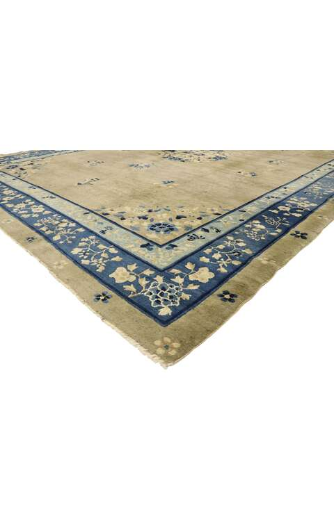 9 x 12 Antique Chinese Art Deco Rug 77510